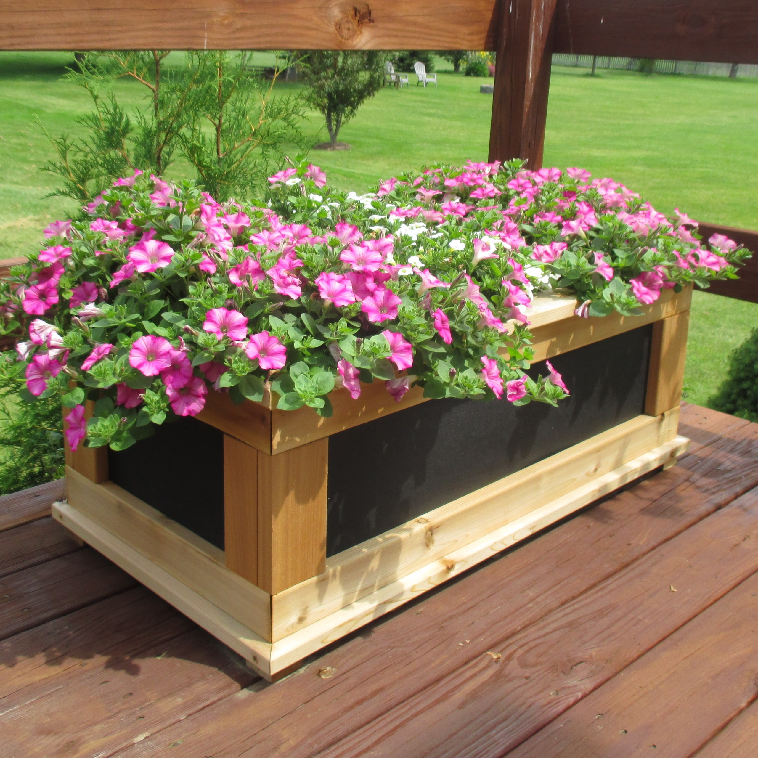 Signature Series Hdpe Rectangular Cedar Planter Free